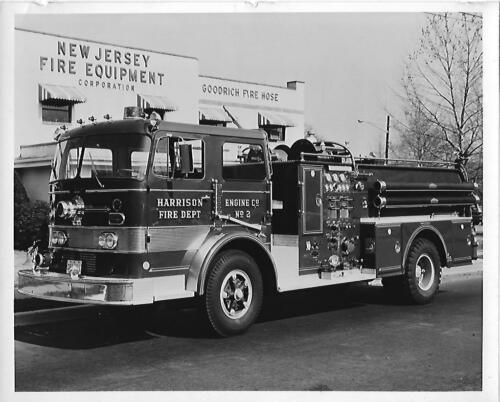Harrison Fire Dept pumper truck Harrison, NJ Orig 8 x10 BW Photo B194