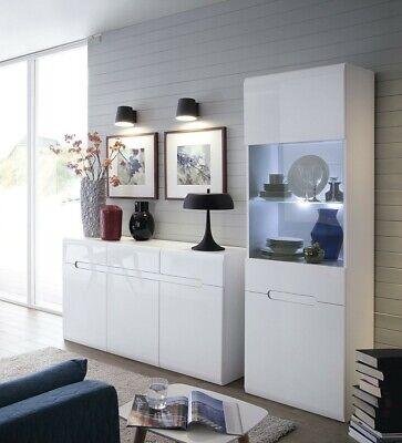 White Gloss Living Room Furniture Set, White Living Room Furniture