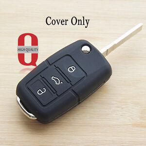 Black Silicone Car Key Cover For Skoda Octavia A5 Fabia Superb Yeti