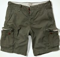 Hollister By A&f Mens Classic At Knee Cargo Shorts Green 28, 30, 31, 32, 33, 34