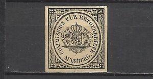 46-SELLOS DEVOLUCION BAYERN ALEMANIA 1865 Nº2.10,00€