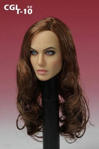 "1//6 CGL  Angelina Jolie Voight Head Sculpt  F12/"" Female Hot// Phicen Body"