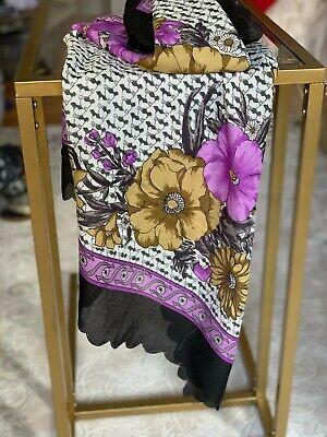 quadratisches Kopftuch Bandana Tuch Symbole Muster grün Blumen,Tiere