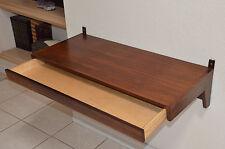 Stunning Vintage Danish Modern Rosewood veneer wall-mounted table/shelf/desk