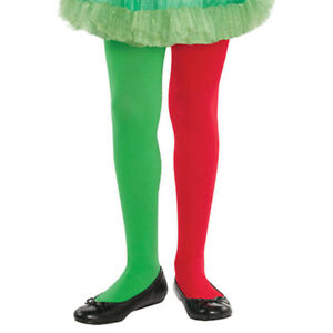 c61ade20d6233d Details about CHILDREN KIDS GIRLS CHRISTMAS XMAS TIGHTS ELF SANTA FANCY  DRESS COSTUME PIXIE
