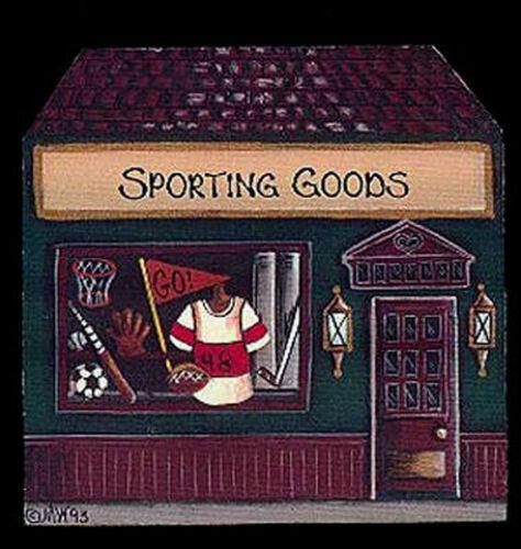 Brandywine Woodcrafts Houses SPORTING GOODS Shop Wooden Shelf Sitter