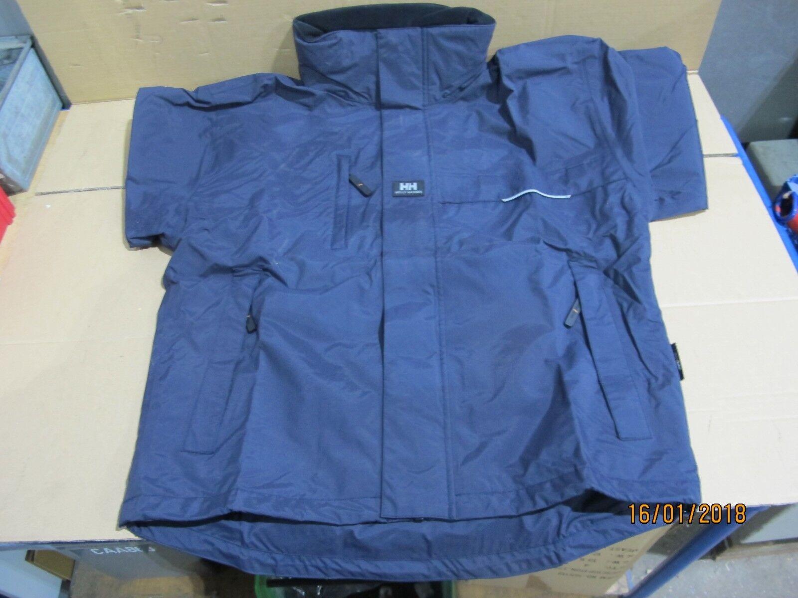 0232  Helly Hansen Regenjacke Outdoor Jacke Regenbekleidung Navy Blau