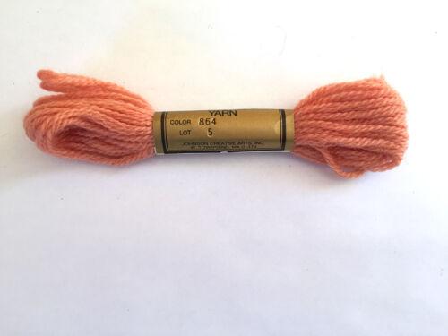 Needlepoint Yarn Paterna Paternayan Persian Wool #864 Lot 5 7.4 M 8 Yards 3 Ply