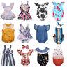 2017 Newborn Baby Girls Floral Romper Bodysuit Jumpsuit Outfits Sunsuit Clothes