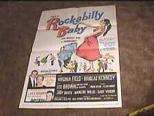 ROCKABILLY BABY 1957 ORIG MOVIE POSTER ROCK & ROLL DANCE