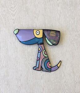 Adorable-artistic-large-dog-Pin-Brooch-enamel-on-Metal