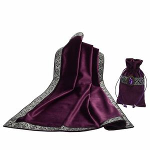 Altar-Tarot-Table-Cloth-Pouch-Tablecloth-Purple-Decor-Divination-Square-Wicca