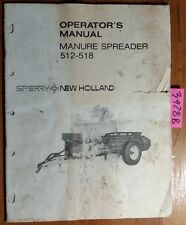 New Holland 512 518 Manure Spreader Owners Operators Manual 42051223 275