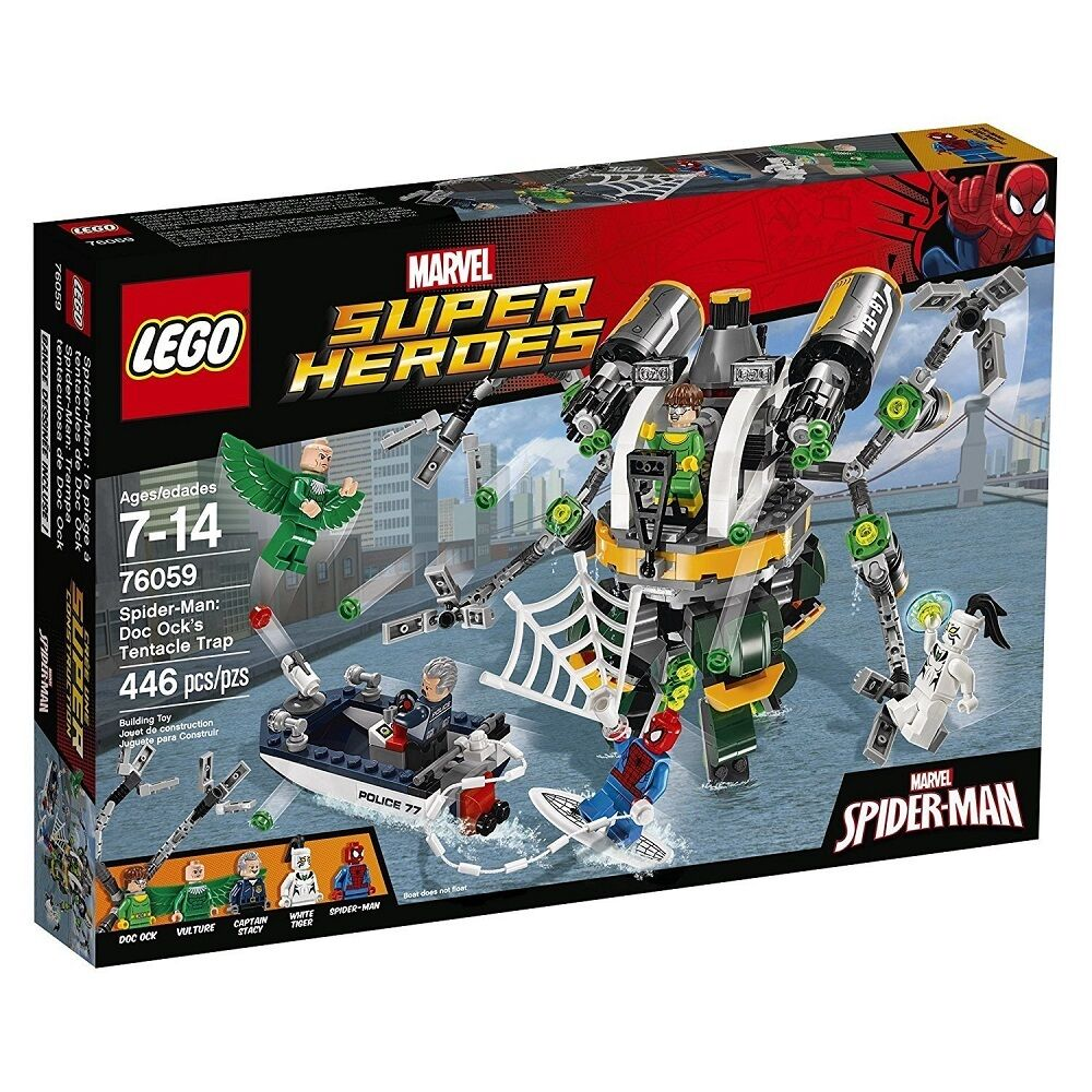LEGO Super Heroes 76059 - Spider-Man  la Trappola Tentacolare PS 07427