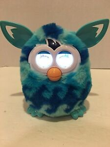 Furby Boom 2012 Hasbro Blue Waves Turquoise White Works Great Tested