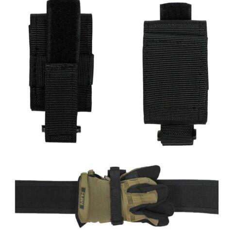 MFH Handschuhhalter hochkant o längs Nylon Schwarz Security Handschuh-Halter