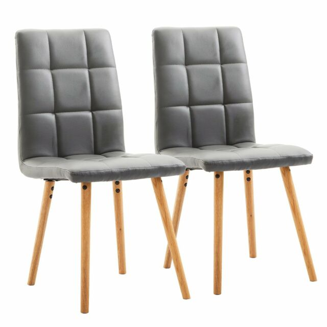 Homcom Set 2 sedie Sala da pranzo moderne imbottite legno 45×56×93cm ...