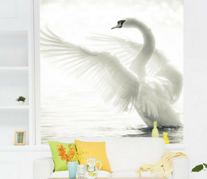 3D Weißer Schwan 73 Tapete Wandgemälde Tapete Tapeten Bild Familie DE Summer