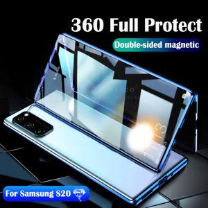 Coque Pour Samsung S21 S20 A51 A71 A12Magnétique Verre Trempé Avant et Arrière