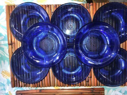 "4 Forte Crisa Mexico Sunflower Design Cobalt Blue 6"" bowls cereal oatmeal"