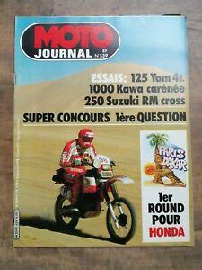 Moto Journal Nº 539 / 14 Janvier 1982