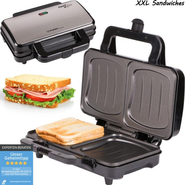 Sandwich-Toaster Sandwichmaker Muschelform für 2 ganze Sandwiches Kontakt-Grill