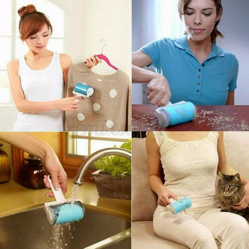 3Pcs Reusable Roller Lint Sticky Cleaner Pet Hair Remover Clothes Dust Remover