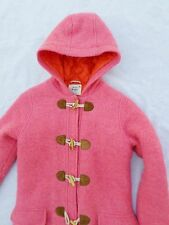 MINI BODEN hot pink shaggy wool girl's winter toggle duffle coat 11-12Y