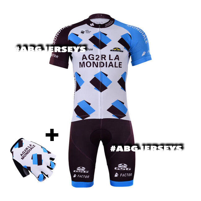 NEW 2017 AG2R JERSEY BIB HOBBY SET KIT CYCLING TOUR DE FRANCE LATOUR BARDET
