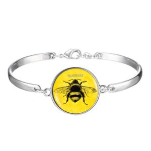 Details About Vintage Bee Art Cabochon Silver Gl Bracelet Jewelry Bracelets Insect
