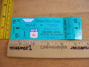 Details about 1984 NFR Rodeo National Finals Oklahoma City Full ticket full  12/1