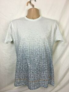Mens-T-Shirt-Size-Medium-White-top-Maths-Graphics-Print-100-cotton-Free-P-amp-P