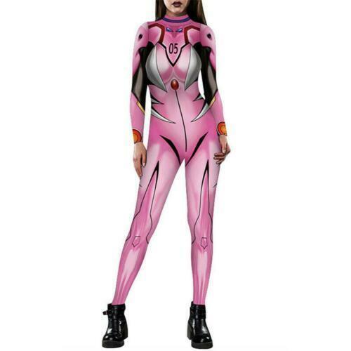 EVANGELION Jumpsuit Catsuit Women Halloween Cosplay Costume Bodysuit Catsuit