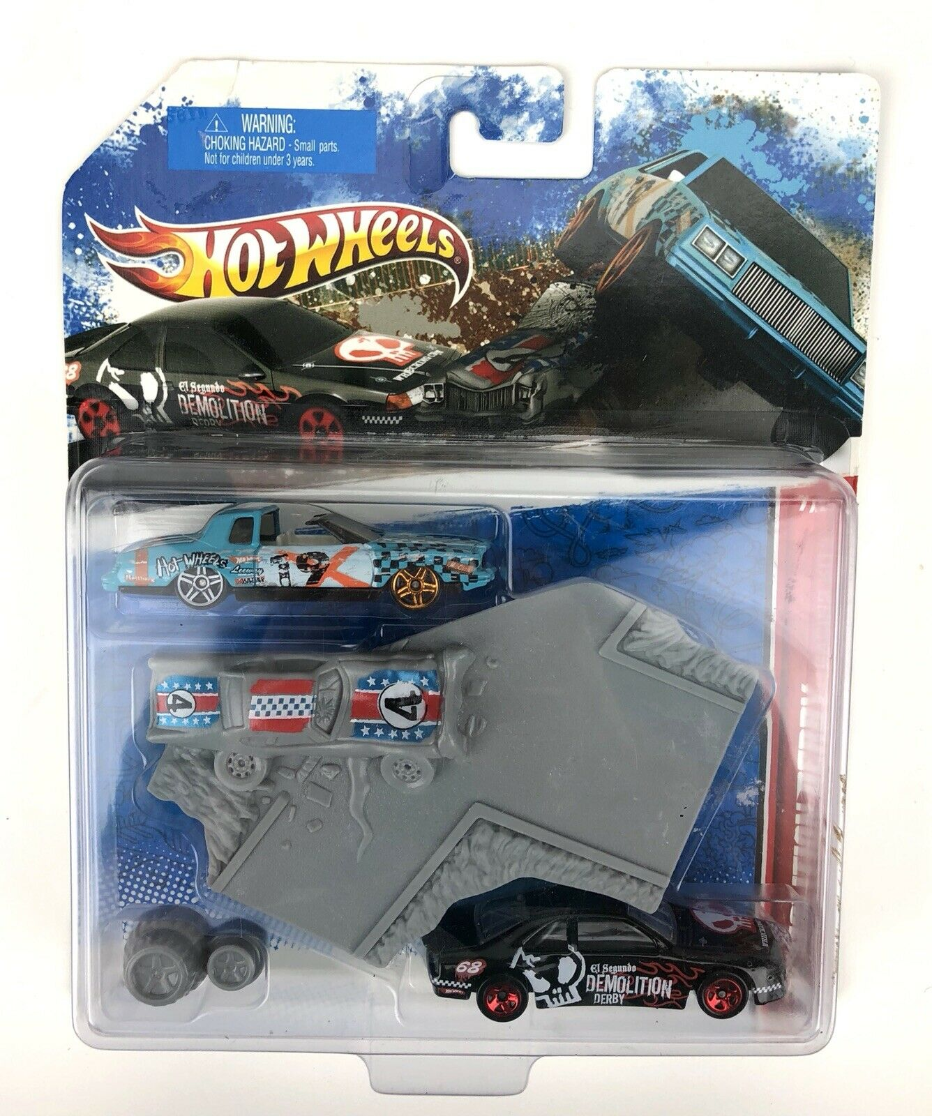 RARE Hot Wheels Racing Kit SNOW Race Set of 12 Demolition Derby