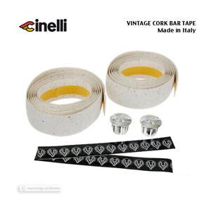 Made in Italy! NOS VINTAGE Cinelli CORK Handlebar Tape MICROSPLASH WHITE