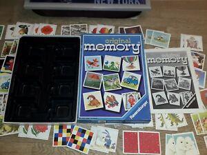 Original-Memory-Ravensburger1990-010356-wie-NEU-mit-Anleitung-und-Zahlenstreifen