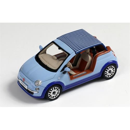 FIAT 500 TENDER TWO CASTAGNA MILANO 2008 LIGHT azul 1 43 PremiumX Die Cast