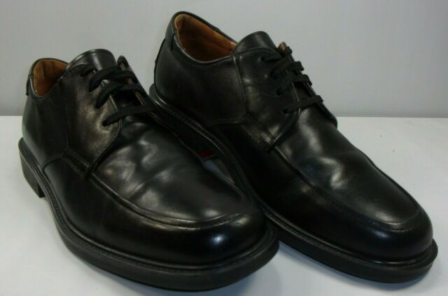 Johnston & Murphy Men's Handcrafted Leather Oxfords Black Italy EUC! Size 9 ½ M