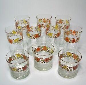 Lot-of-Corelle-Indian-Summer-Drinking-Glasses-Tumbler-8-And-16-Ounce-Total-10
