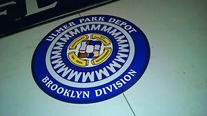 NEW-YORK-TRANSIT-NYC-BUS-SIGN-ULMER-PARK-DEPOT-BROOKLYN-DIVISION-NY-VINYL-DECAL