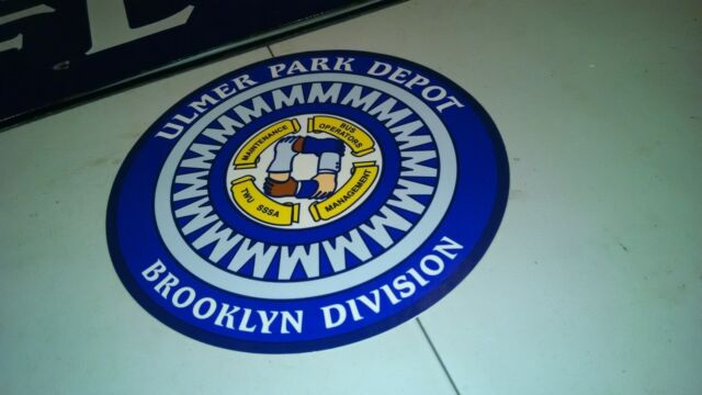 NEW YORK TRANSIT NYC BUS SIGN ULMER PARK DEPOT BROOKLYN DIVISION NY VINYL DECAL