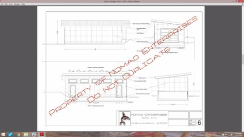 Modern Studio Garage Blueprints Plans Mancave Building Plan Contemporary Shed