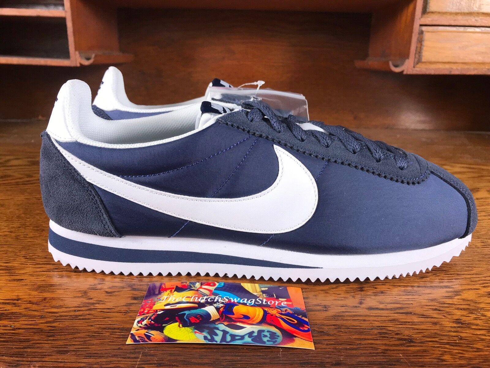 Nike cortez mens classic nylon laufschuh blau - weißer 807472 410 neuen all - szs