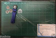 3 en 1 Kw-trio 28mm Cortador Rotatorio + 3 Hoja + A3 autorreparación Rejilla Estera De Corte