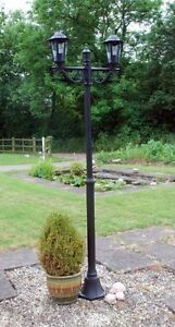 Victorian outdoor lighting twin double head garden path lamp post image is loading victorian outdoor lighting twin double head garden path aloadofball Choice Image
