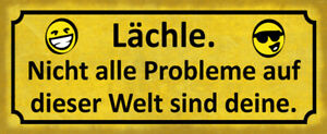 Problems This World Tin Sign Shield Arched Metal 10 X 27 CM K0272
