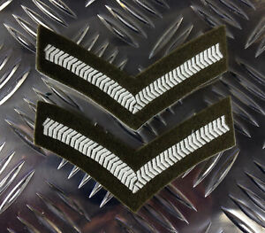 Genuine-British-Army-Rank-Stripes-Chevrons-Badges-Patches-Brand-NEW-x-2