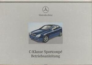 MERCEDES-SPORTCOUPE-CL203-Betriebsanleitung-2001-Fahrerhandbuch-C-Klasse-BA