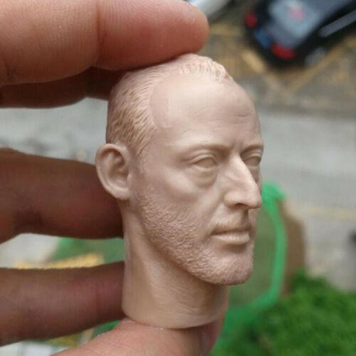 """Blank 1//6 Scale Leon Jean Reno Head Sculpt Unpainted Fit 12/"""" Body"""