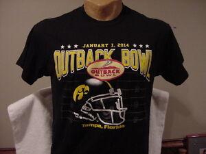 8b4204a39a7 BEAUTIFUL Iowa Hawkeyes 2014 Outback Bowl Men s Sz Md Black T-Shirt ...